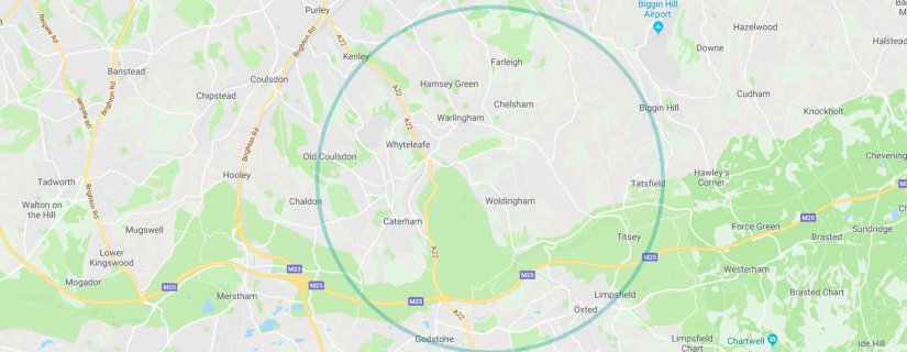 east surrey map wide circle